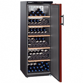 LIEBHERR WKR4211 Freestanding Vinothek Single Zone Wine Chiller with Red Door, 165 cm